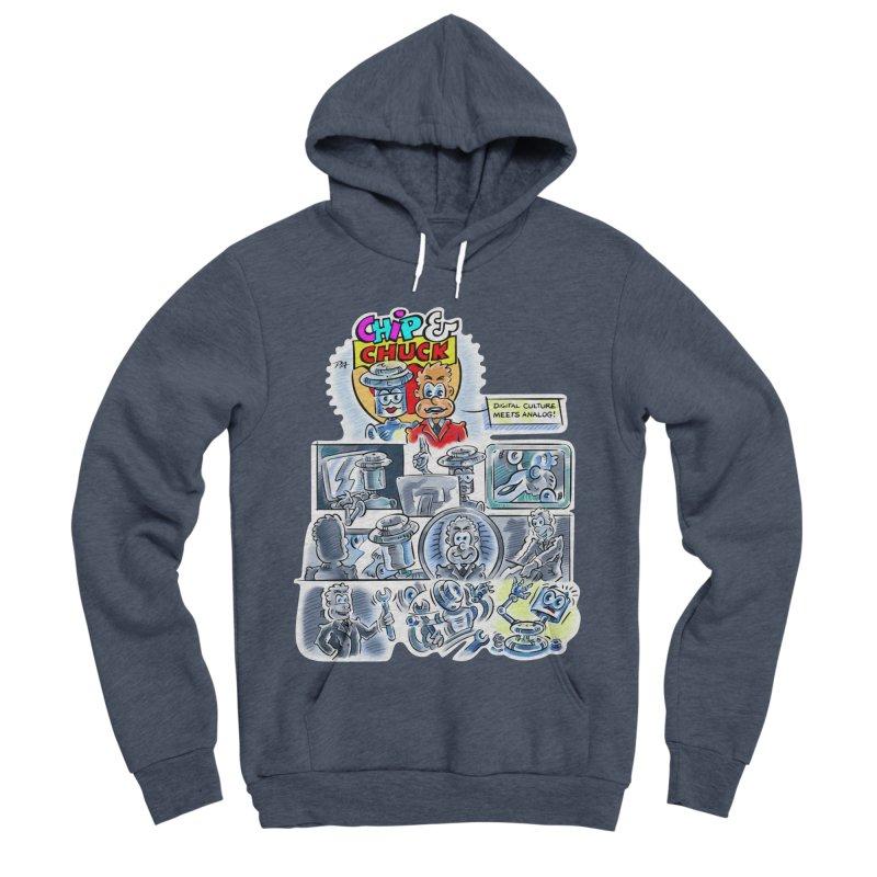 Chip & Chuck Analog Men's Sponge Fleece Pullover Hoody by thethinkforward's Artist Shop