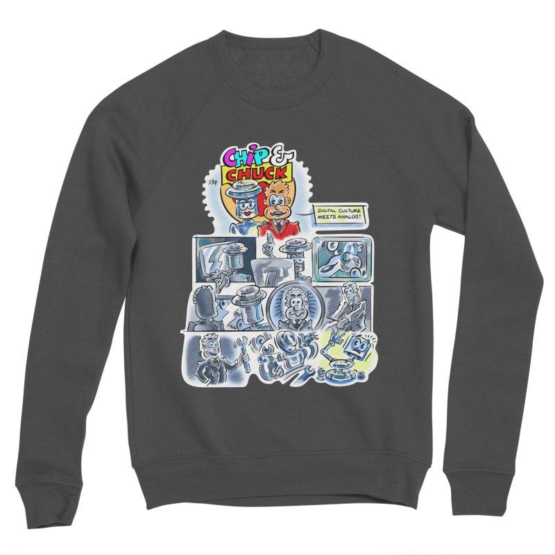 Chip & Chuck Analog Women's Sponge Fleece Sweatshirt by thethinkforward's Artist Shop