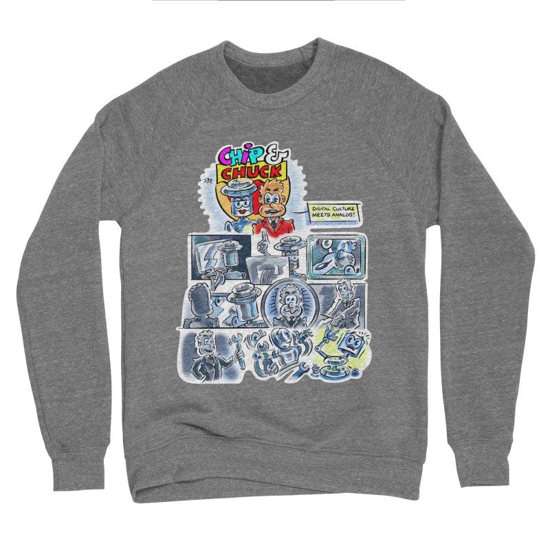 Chip & Chuck Analog Men's Sponge Fleece Sweatshirt by thethinkforward's Artist Shop