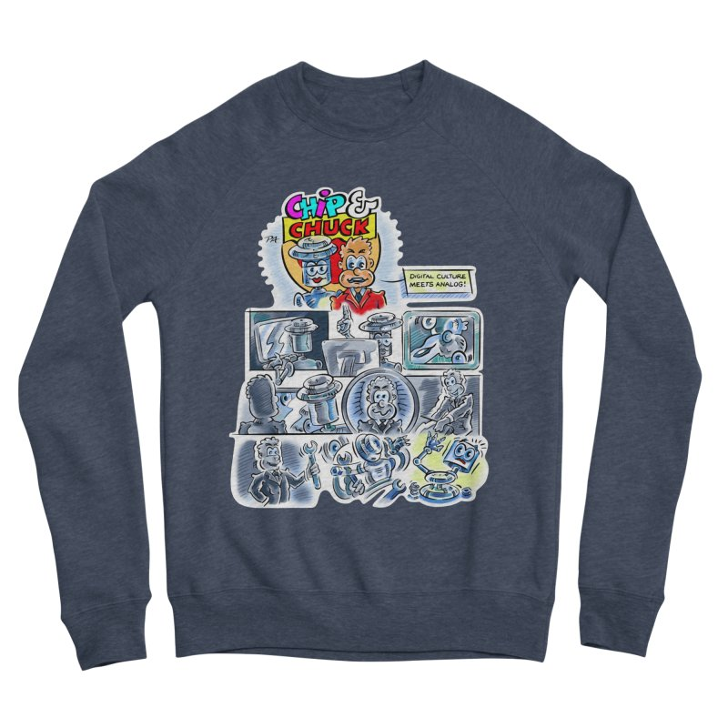 Chip & Chuck Analog Men's Sponge Fleece Sweatshirt by thethinkforward's Artist Shop
