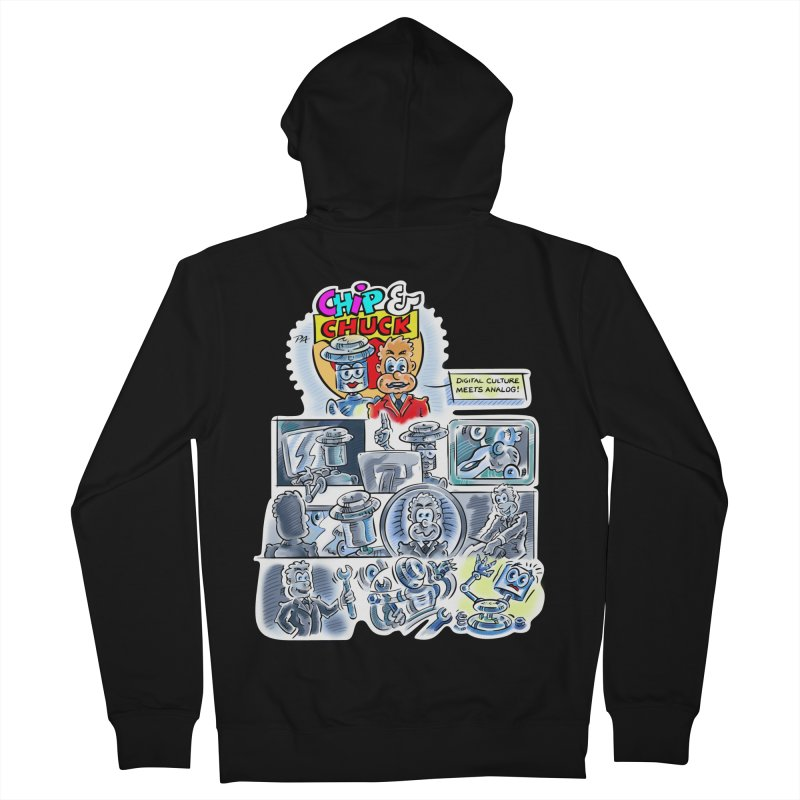 Chip & Chuck Analog Men's French Terry Zip-Up Hoody by thethinkforward's Artist Shop