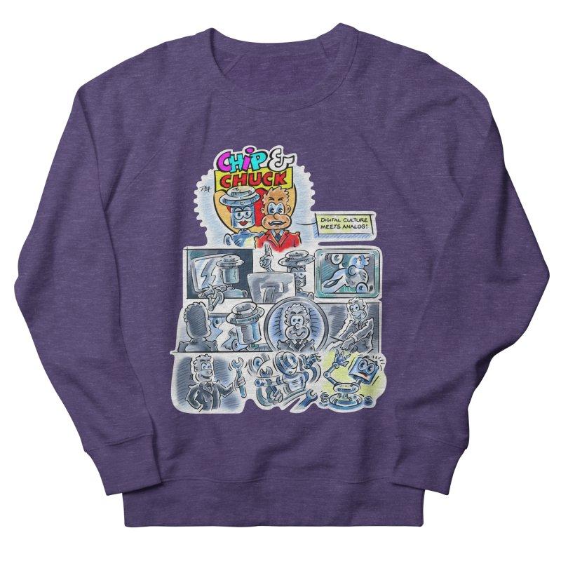 Chip & Chuck Analog Women's French Terry Sweatshirt by thethinkforward's Artist Shop