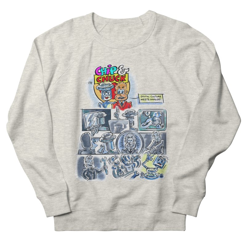 Chip & Chuck Analog Women's French Terry Sweatshirt by thethinkforward's Artist Shop