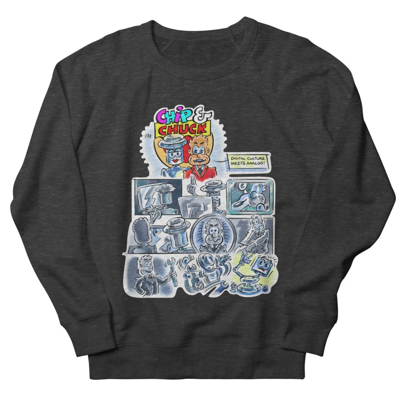 Chip & Chuck Analog Men's French Terry Sweatshirt by thethinkforward's Artist Shop