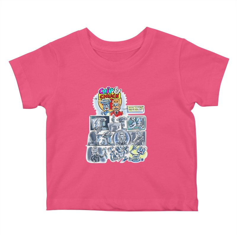 Chip & Chuck Analog Kids Baby T-Shirt by thethinkforward's Artist Shop