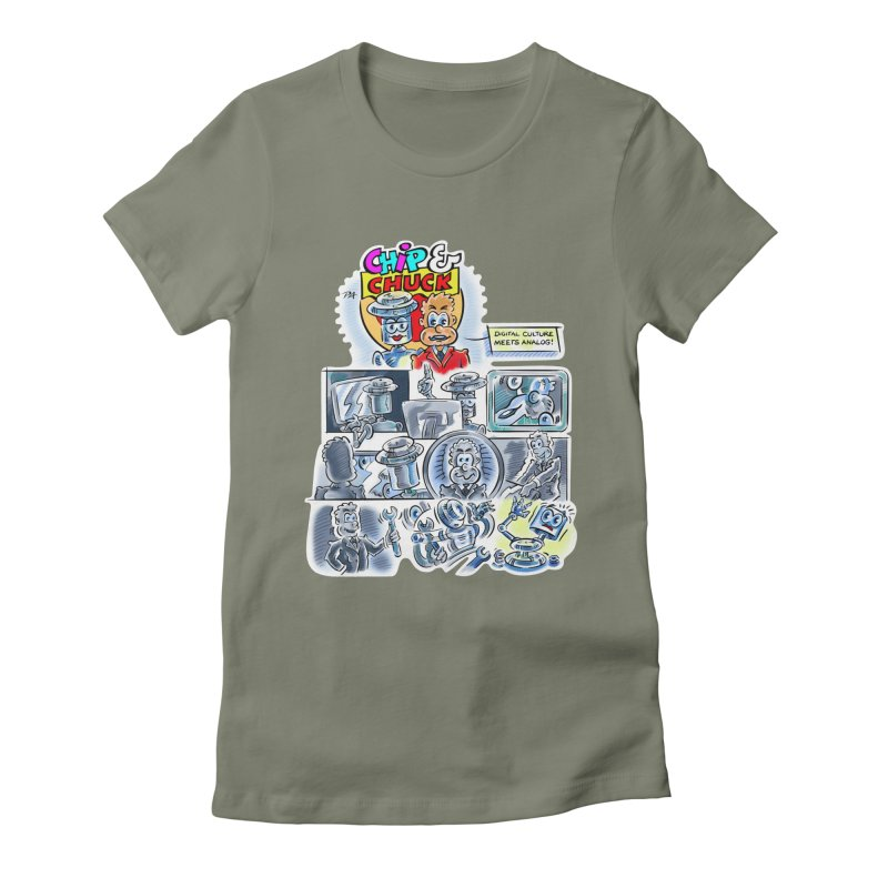 Chip & Chuck Analog Women's Fitted T-Shirt by thethinkforward's Artist Shop