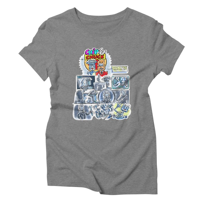 Chip & Chuck Analog Women's Triblend T-Shirt by thethinkforward's Artist Shop