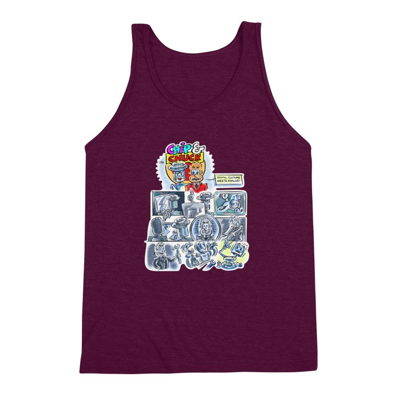 Chip & Chuck Analog Men's Triblend Tank by thethinkforward's Artist Shop