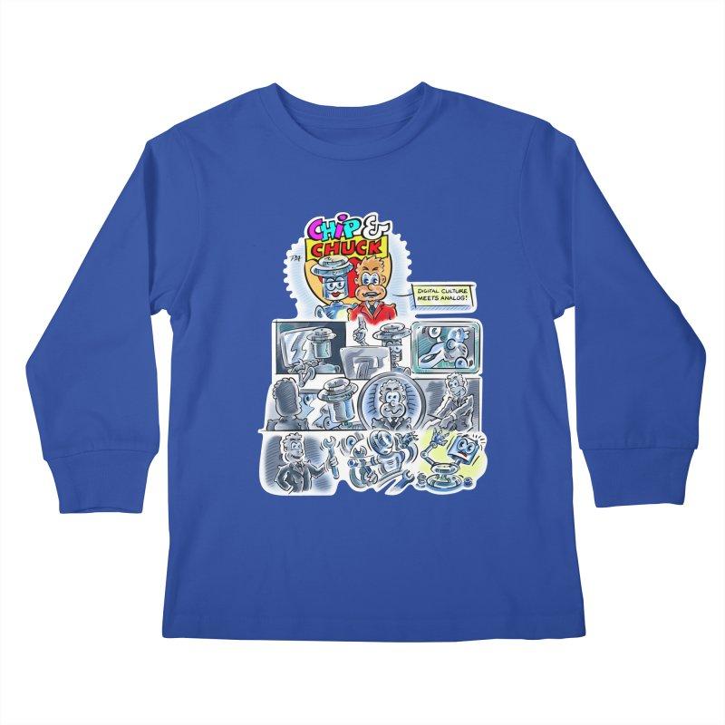 Chip & Chuck Analog Kids Longsleeve T-Shirt by thethinkforward's Artist Shop