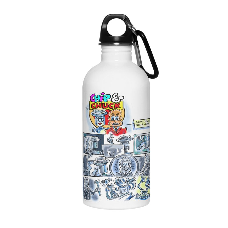 Chip & Chuck Analog Accessories Water Bottle by thethinkforward's Artist Shop