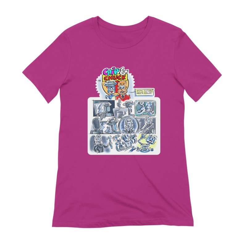 Chip & Chuck Analog Women's Extra Soft T-Shirt by thethinkforward's Artist Shop