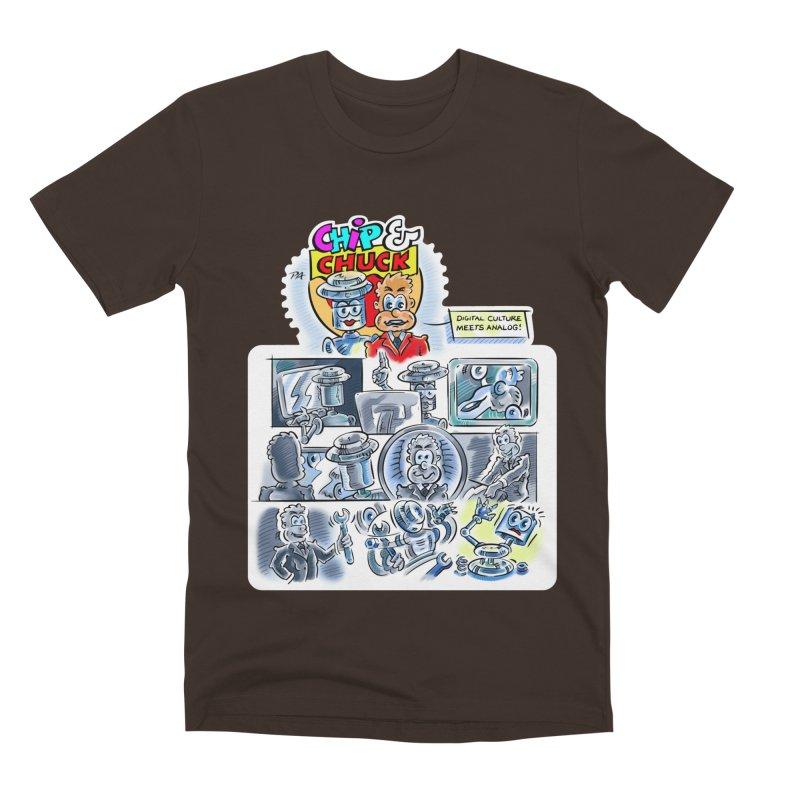 Chip & Chuck Analog Men's Premium T-Shirt by thethinkforward's Artist Shop