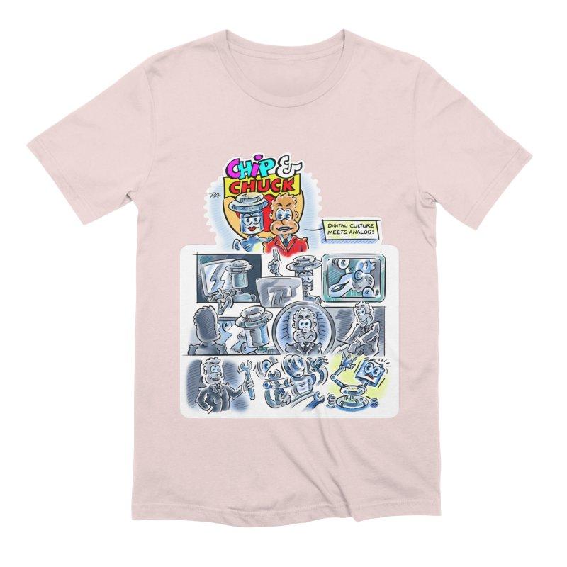 Chip & Chuck Analog Men's Extra Soft T-Shirt by thethinkforward's Artist Shop