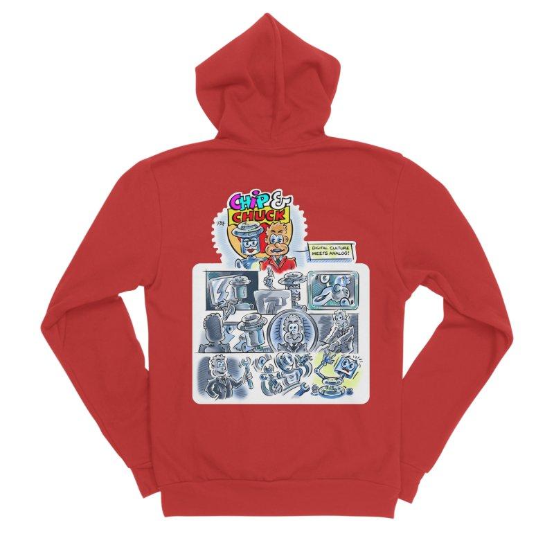 Chip & Chuck Analog Men's Sponge Fleece Zip-Up Hoody by thethinkforward's Artist Shop