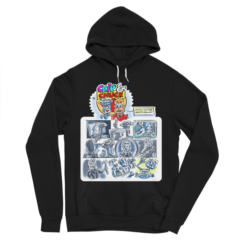 Chip & Chuck Analog Men's Sponge Fleece Pullover Hoody by thethinkforward's Artist Shop