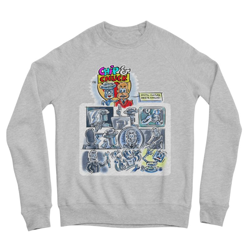 Chip & Chuck Analog Women's Sponge Fleece Sweatshirt by thethinkforward's Artist Shop