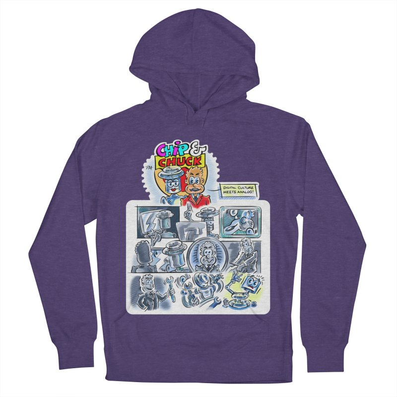 Chip & Chuck Analog Women's French Terry Pullover Hoody by thethinkforward's Artist Shop