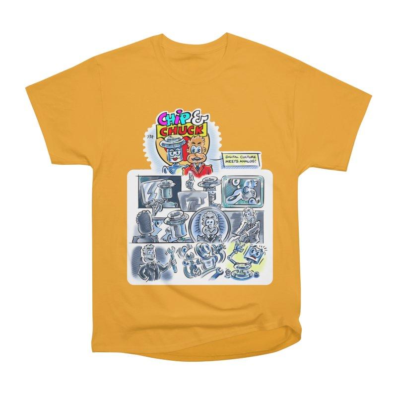 Chip & Chuck Analog Men's Heavyweight T-Shirt by thethinkforward's Artist Shop