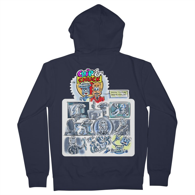 Chip & Chuck Analog Women's French Terry Zip-Up Hoody by thethinkforward's Artist Shop