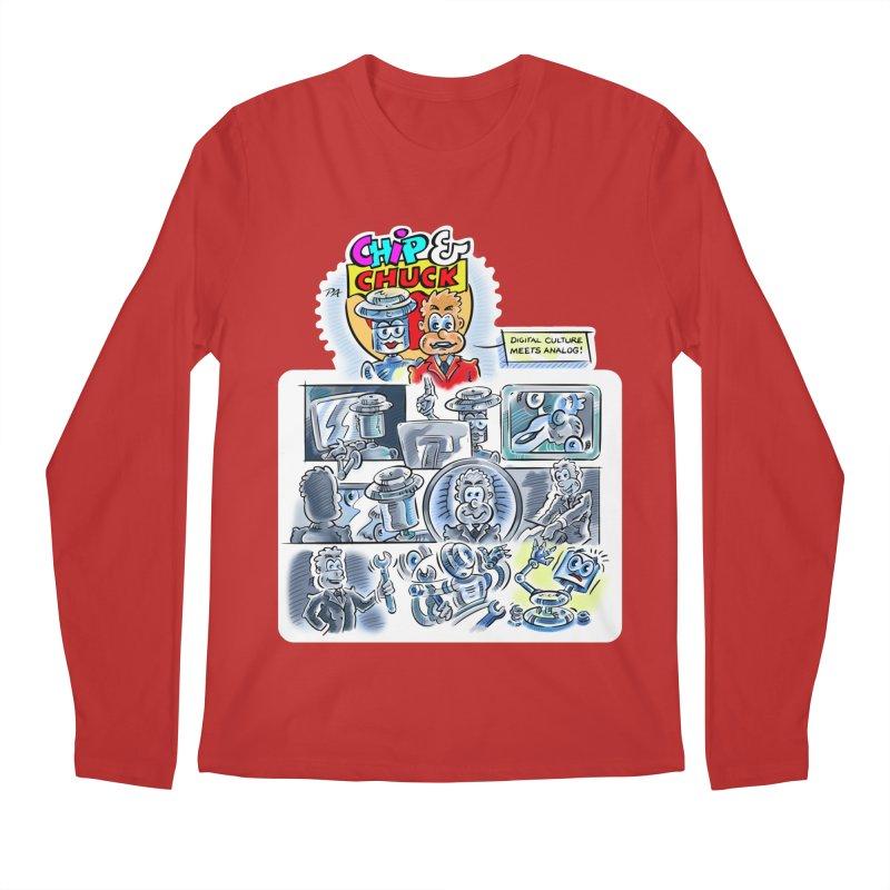 Chip & Chuck Analog Men's Regular Longsleeve T-Shirt by thethinkforward's Artist Shop