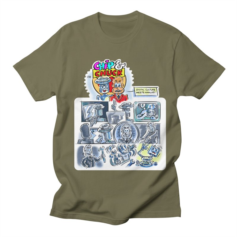 Chip & Chuck Analog Men's Regular T-Shirt by thethinkforward's Artist Shop