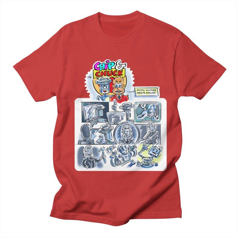 Chip & Chuck Analog Men's Regular T-Shirt by thethinkforward's Artist Shop
