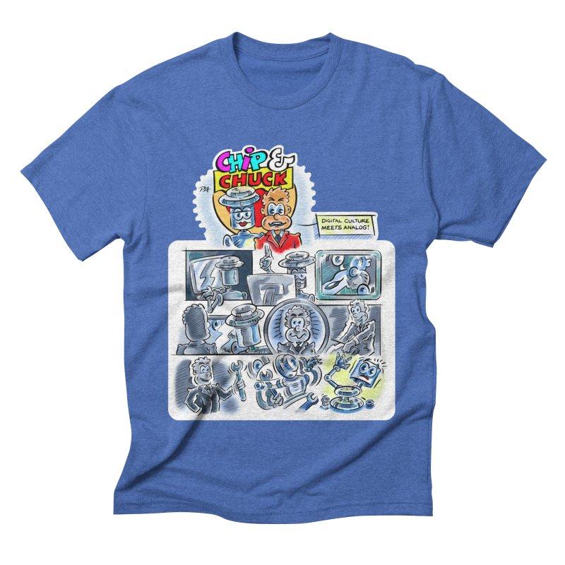 Chip & Chuck Analog Men's Triblend T-Shirt by thethinkforward's Artist Shop