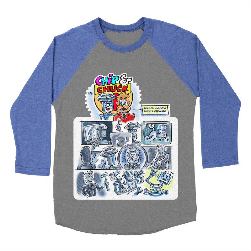 Chip & Chuck Analog Women's Baseball Triblend Longsleeve T-Shirt by thethinkforward's Artist Shop