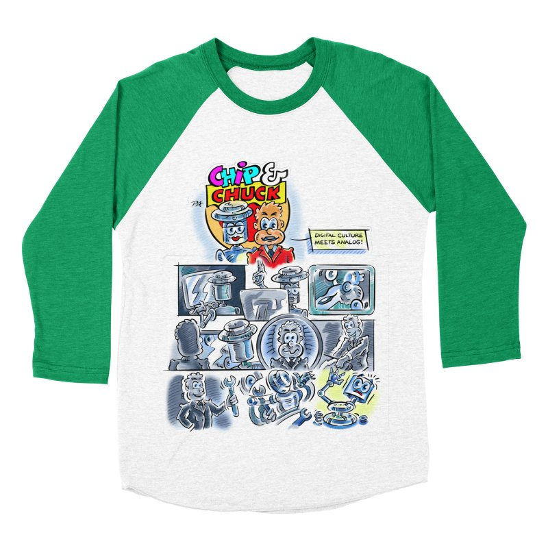 Chip & Chuck Analog Men's Baseball Triblend Longsleeve T-Shirt by thethinkforward's Artist Shop