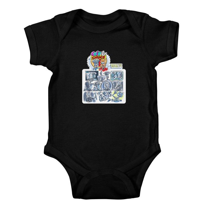 Chip & Chuck Analog Kids Baby Bodysuit by thethinkforward's Artist Shop