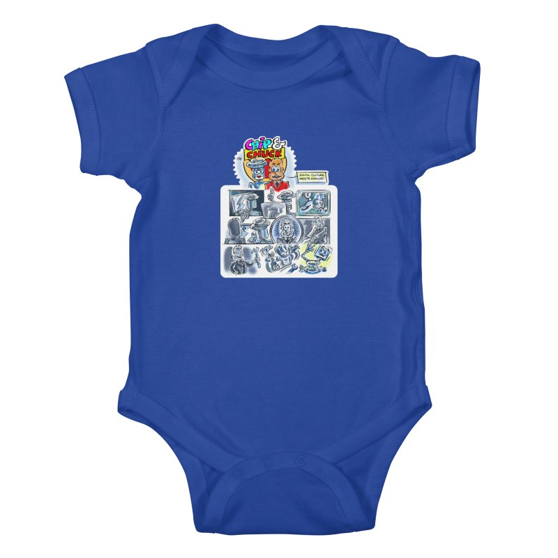 Chip & Chuck Analog Kids Baby Bodysuit by thethinkforward's Artist Shop