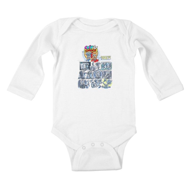 Chip & Chuck Analog Kids Baby Longsleeve Bodysuit by thethinkforward's Artist Shop