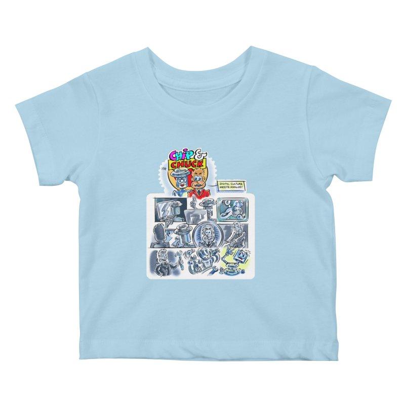 Chip & Chuck Analog Kids Baby T-Shirt by thethinkforward's Artist Shop