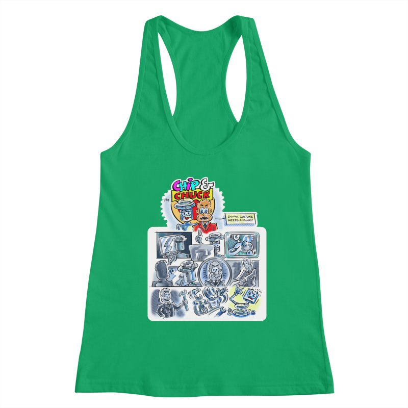 Chip & Chuck Analog Women's Tank by thethinkforward's Artist Shop