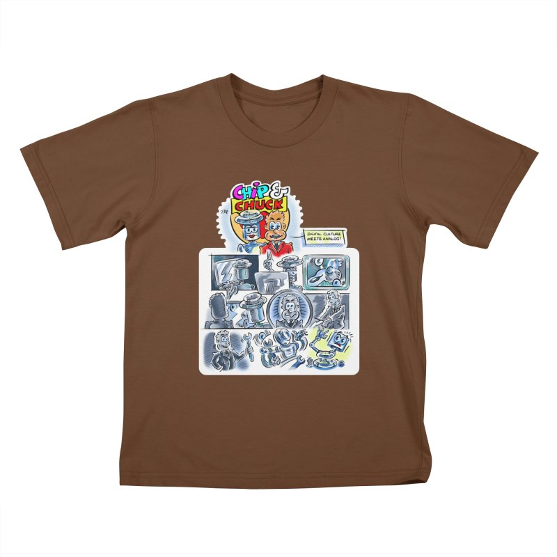 Chip & Chuck Analog Kids T-Shirt by thethinkforward's Artist Shop