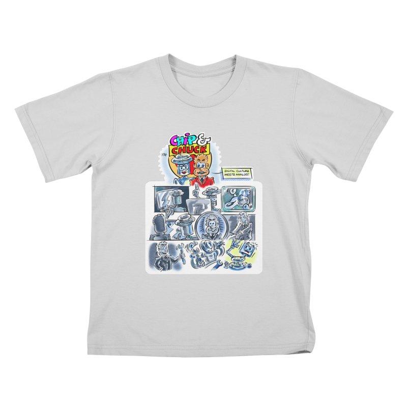 Chip & Chuck Analog Kids T-Shirt by thethinkforward's Artist Shop