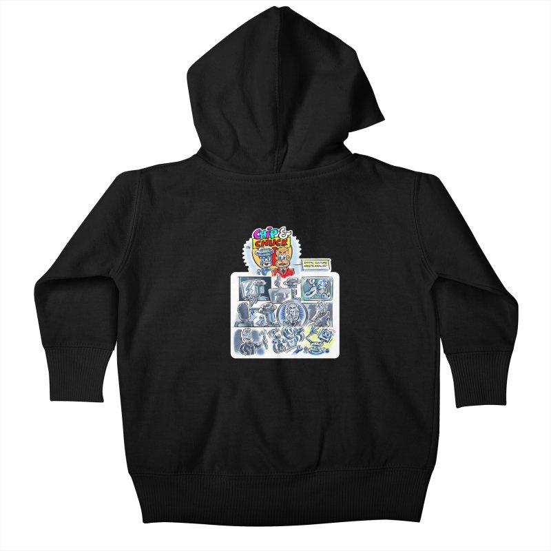 Chip & Chuck Analog Kids Baby Zip-Up Hoody by thethinkforward's Artist Shop