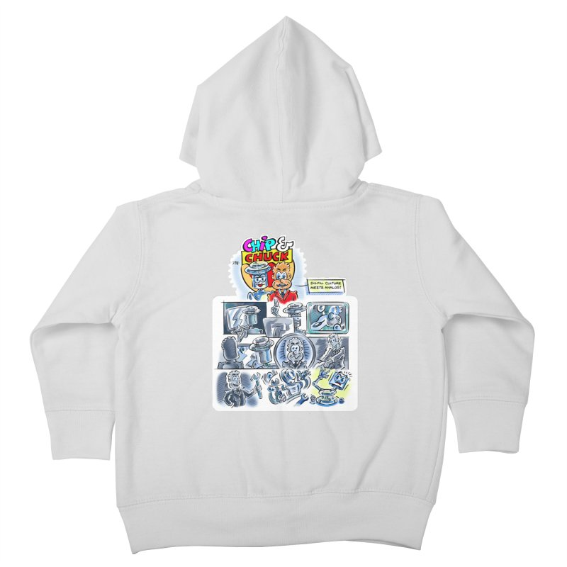 Chip & Chuck Analog Kids Toddler Zip-Up Hoody by thethinkforward's Artist Shop