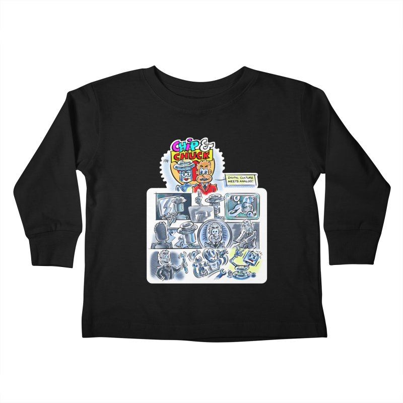 Chip & Chuck Analog Kids Toddler Longsleeve T-Shirt by thethinkforward's Artist Shop