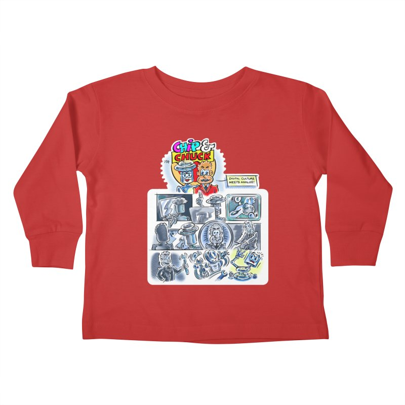 Chip & Chuck Analog Kids Toddler Longsleeve T-Shirt by thethinkforward's Artist Shop