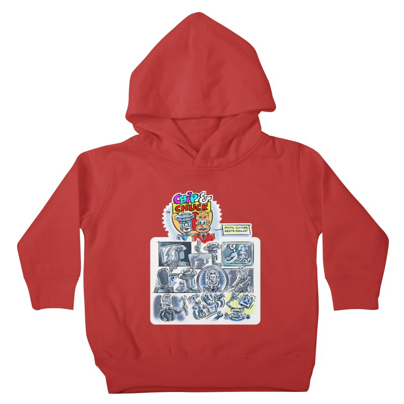 Chip & Chuck Analog Kids Toddler Pullover Hoody by thethinkforward's Artist Shop