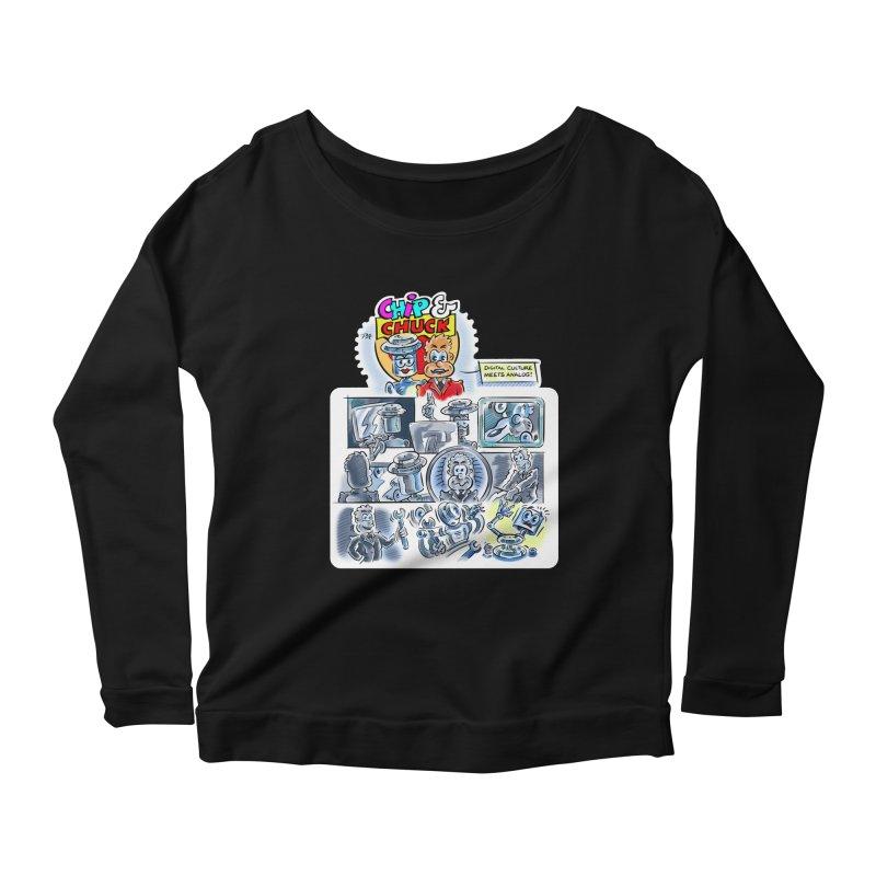 Chip & Chuck Analog Women's Scoop Neck Longsleeve T-Shirt by thethinkforward's Artist Shop