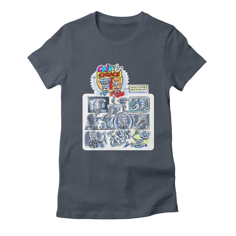 Chip & Chuck Analog Women's T-Shirt by thethinkforward's Artist Shop