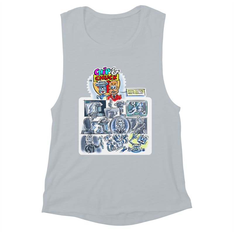 Chip & Chuck Analog Women's Muscle Tank by thethinkforward's Artist Shop