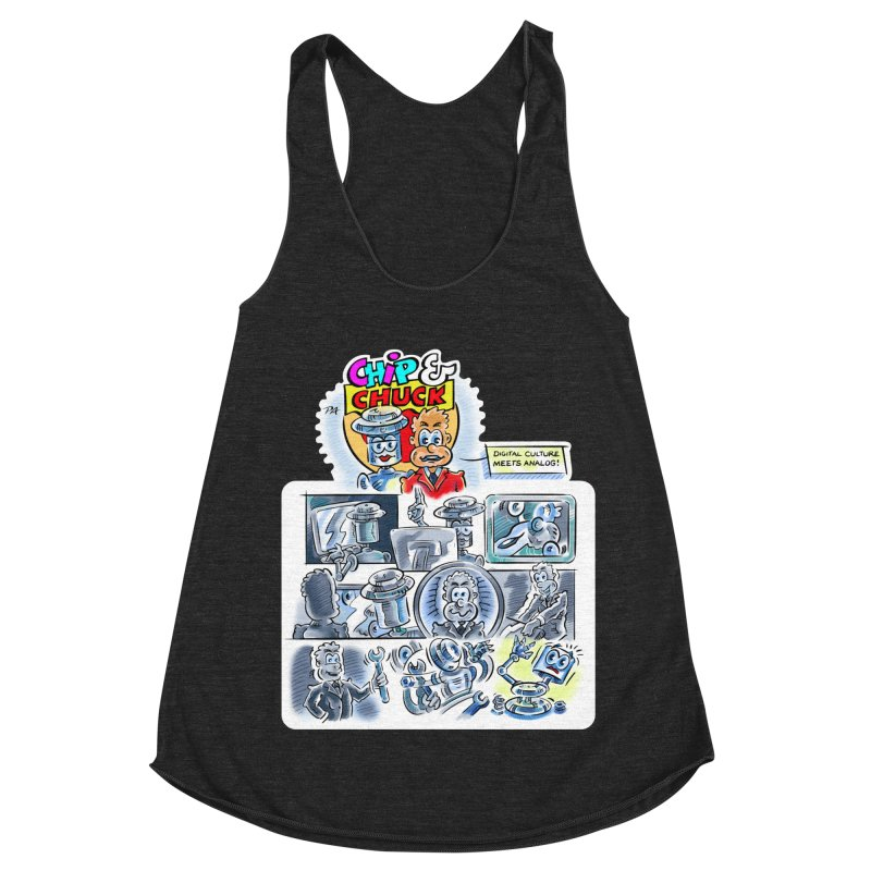 Chip & Chuck Analog Women's Racerback Triblend Tank by thethinkforward's Artist Shop