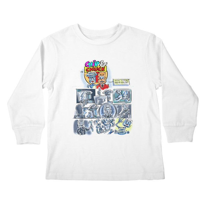 Chip & Chuck Analog Kids Longsleeve T-Shirt by thethinkforward's Artist Shop
