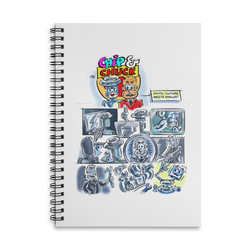 Chip & Chuck Analog Accessories Lined Spiral Notebook by thethinkforward's Artist Shop
