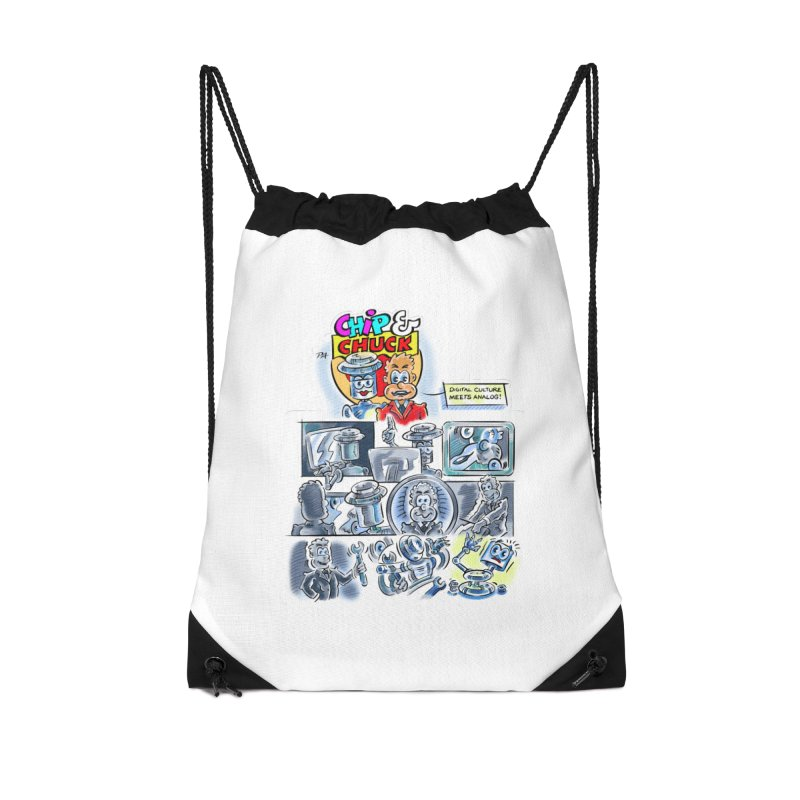 Chip & Chuck Analog Accessories Drawstring Bag Bag by thethinkforward's Artist Shop