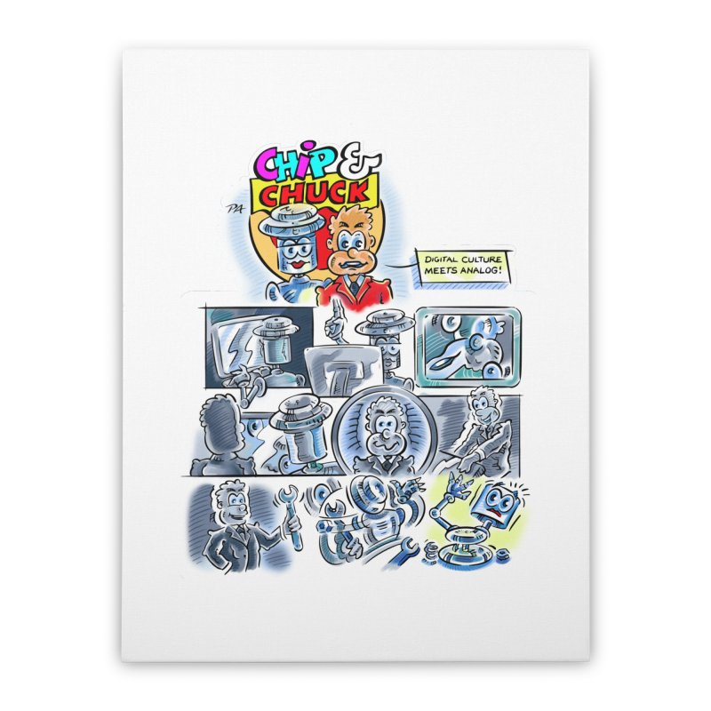 Chip & Chuck Analog Home Stretched Canvas by thethinkforward's Artist Shop