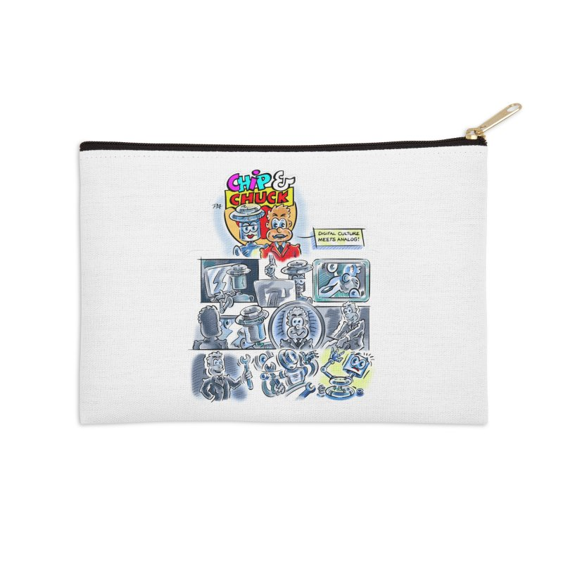 Chip & Chuck Analog Accessories Zip Pouch by thethinkforward's Artist Shop